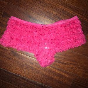 Coral ruffle undies